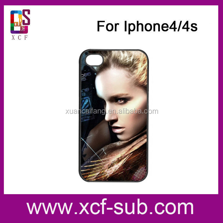 2D Sublimation Mobile Phone Cover, Sublimation for Iphone4/4s Case,Heat Transfer Phone Case