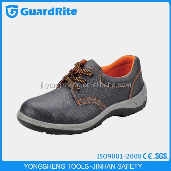 GuardRite Brand Black Embossed Leather Steel Toe Inserts For New Style TPU Safety Shoes