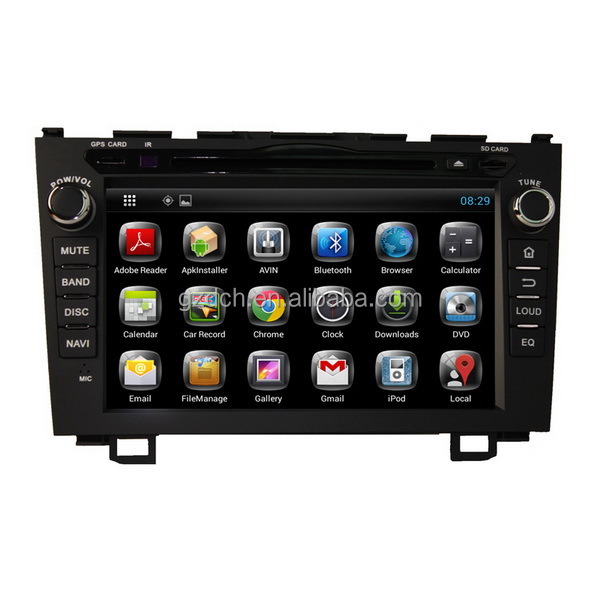 2GB DDR3 8GB capacitive screen 4.2 dual core A9 pure android 4.0 car dvd for honda CRV wifi 3G WS-129