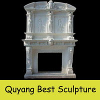 Construction home used large white marble fireplaces