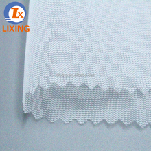 100% polyester tricot mesh fabric garment fusible interlining fabric