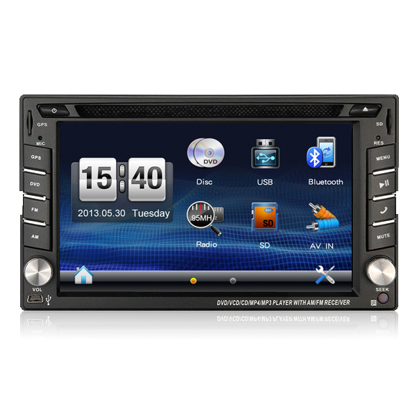 "6.2"" 2 din factory price universal car dvd player for New EF Sonata/bluetooth gps radio swc dvd usb sd"
