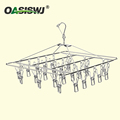multi-functional stainless steel cloth rack/Clothespins/Peg/Clothes hanger with 26 clips