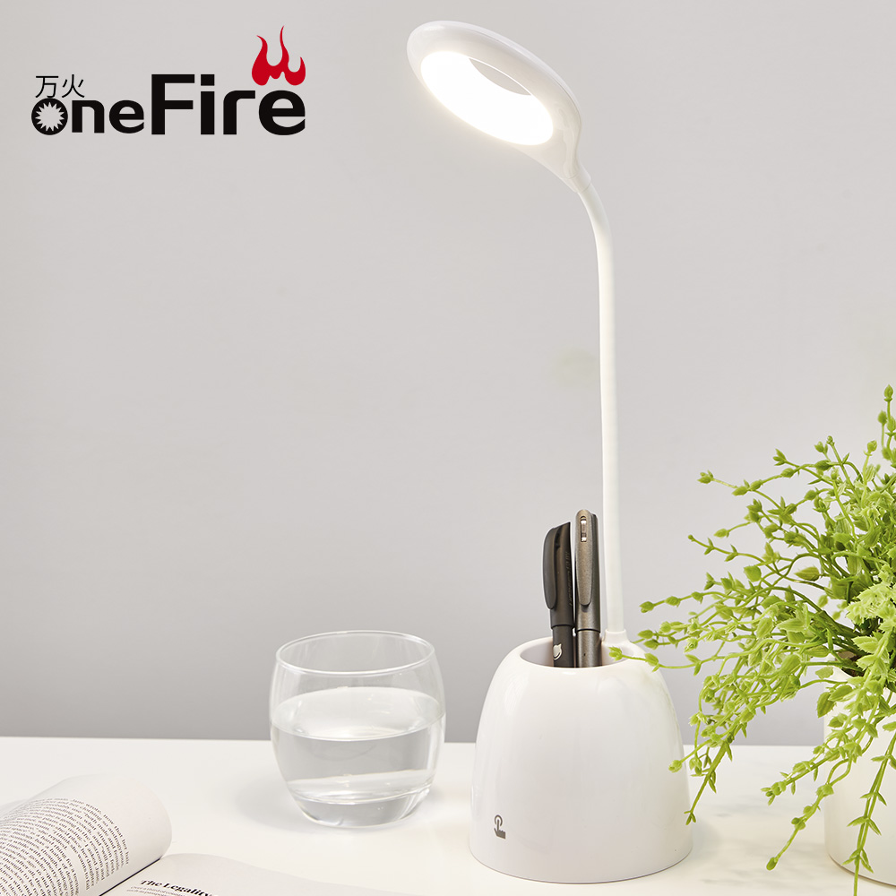 Onefire Multi-function Reading Light,Dimmable High Intensity Book Reading Lamp With Pen Container Hotsale