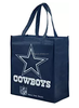 Cowboys Printed Non-Woven Polypropylene Reusable Grocery Tote Bag, Blue