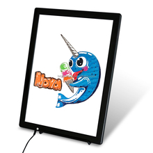 Flashing With Multiple Colors Kids LED Writing Board Magnetic White Painting Tablet