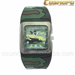 camouflage young mens silicone watches ,sport watch men