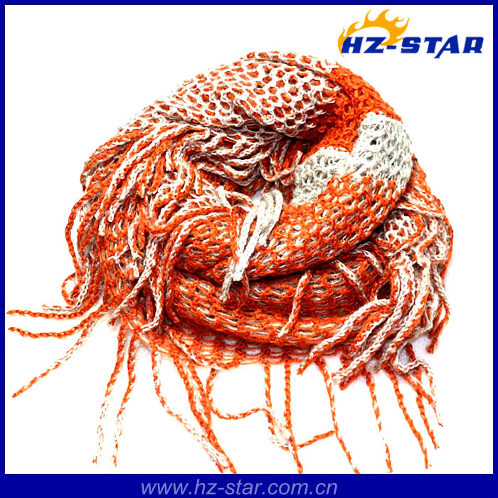 HZW-13055 New style Arrival chinese fashion knitted winter loop women scarf