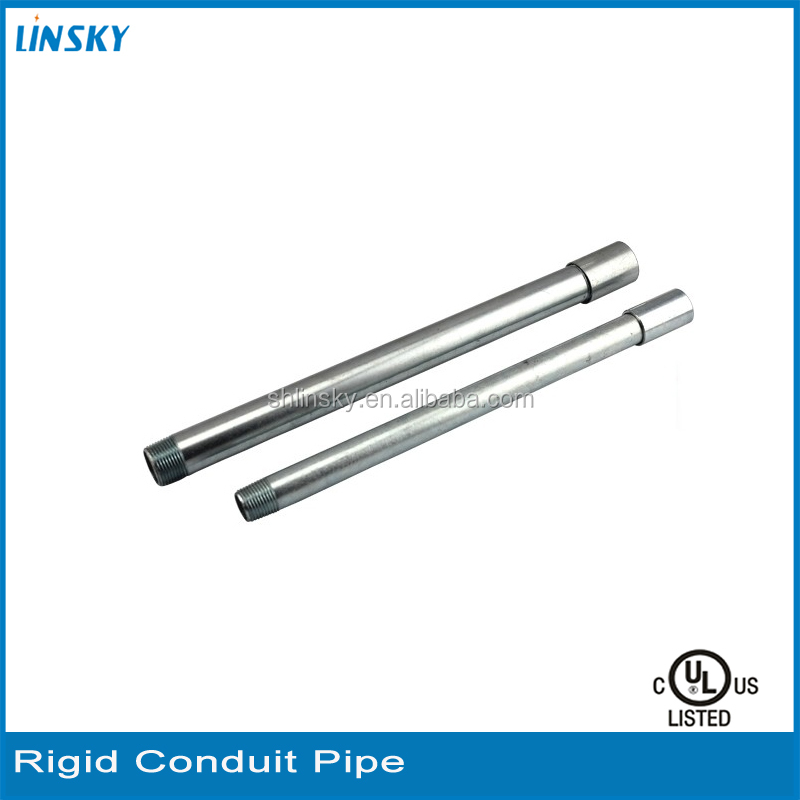 High Quality 10ft./3.05m Length Various Specification Customized Conduit Pipe Tubing 4 Inch Rigid Conduit