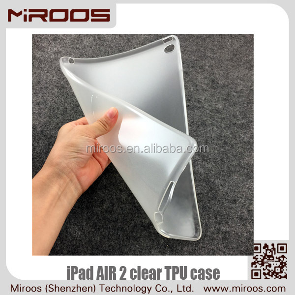 MIROOS top sale hot products transparent for tpu ipad air 2 case soft simple