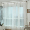 new design 100% polyester fire retardant plain sheer curtain