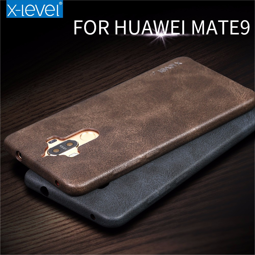 Hotselling Luxury Vintage PU leather Back cover For Huawei Mate 9 cases