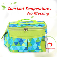 New Product Launch Colorful Large Picnic Cooler Bag For Frozen Food Fruit Drink Sturdy Non Woven Launch Soft Drink Can cooler ba
