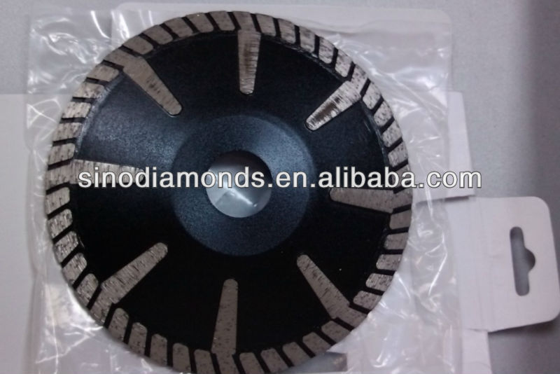 dimond convex saw blade with turbo segment for special cutting