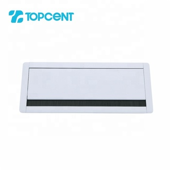 TOPCENT aluminum alloy soft closing rectangular square office table desktop desk cable hole cover grommet