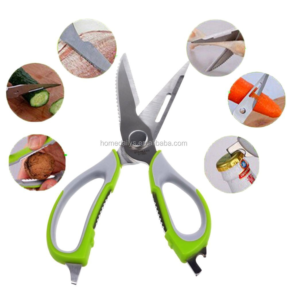 Heavy Duty Kitchen Shears Latest Best Multi Tool Utility Scissors for Chicken Poultry Fish Meat Vegetables Herbs