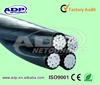 ABC Aerial Cable NFC33-209 ICEA,IEC Standard Aluminum Conductor XLPE Insulated Aerial Bundled Cable 2x10mm2 2x16mm2 4x10mm2 4x16