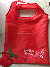 promotion supermarket Recycled eco waterproof cheap folding polyester shopping bag