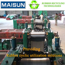 reclaim rubber equipments for waste tyre/used tires recycling production line