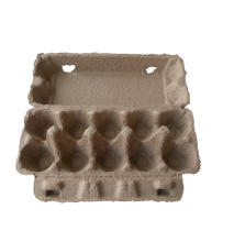 <strong>Ten</strong> White&amp;Brown Pulp Egg Boxes and Egg Holders
