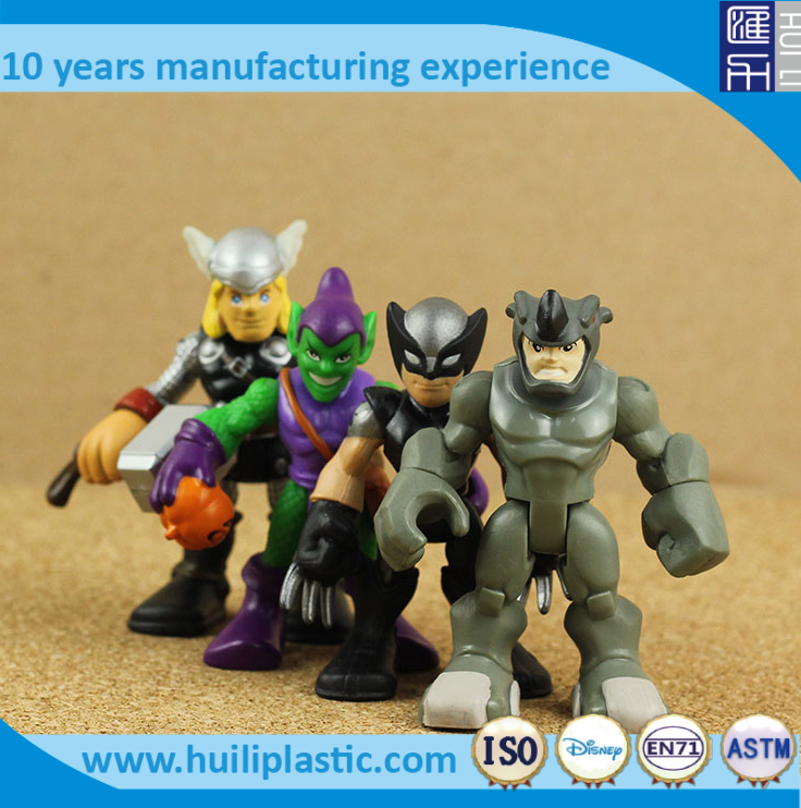3.75inch cartoon look action figure, custom movie cartoon plastic action figure, mini size pvc action figure