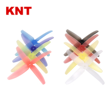 KNT transparent jelly color FPV 4 blade bullnose Prop CW CCW racer propeller 5040 for quadcopter frame 250/320