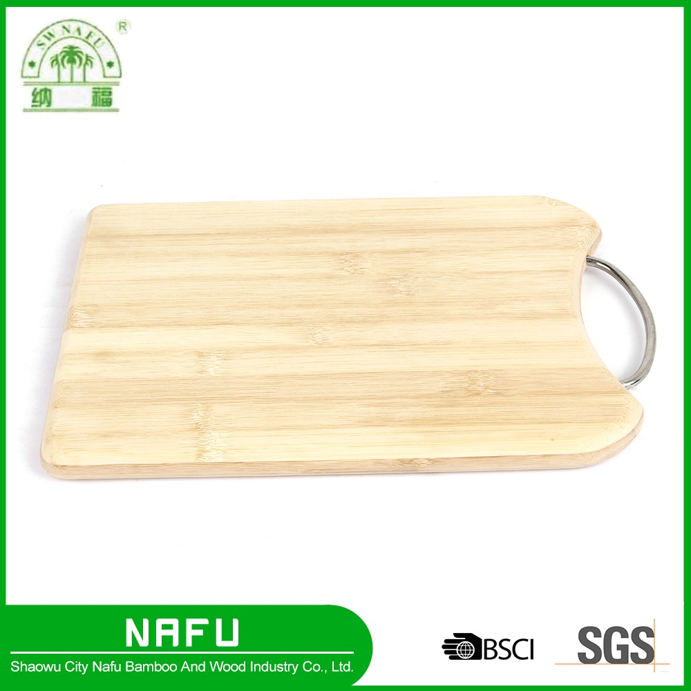 Hot sale high quality bamboo function chopping board with metal holes