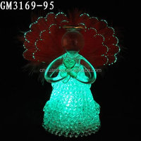 beautiful glass angel wing with led wholesale for decoration