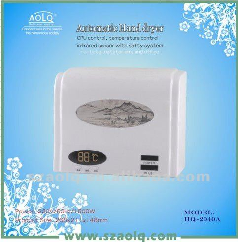 Electric Digital Control, Automatic Hand Dryer with Attemperation