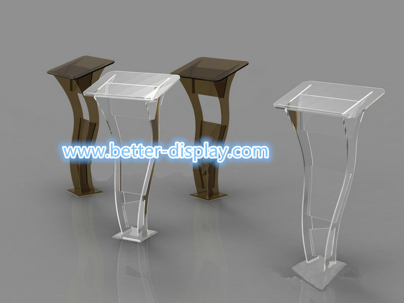 Professional manufacturer custom organic glass clear acrylic podium size