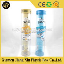 Transparent PVC/ PET/PP plastic tube with ends cap