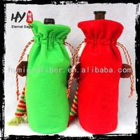 Hot recommended fancy santa costume wine bottle sleeve decoration