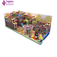 Galvanized steel LLDPE material indoor playground pink type play zone for kids playset equipment