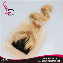best selling natural brazilian hair 12inch natural wave light brown lace closure