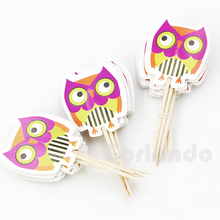 Disposible customized small decoration paper toothpicks flags