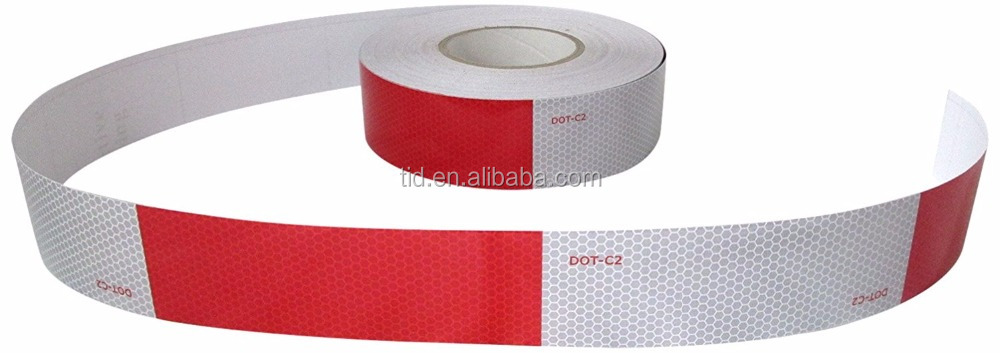 "2"" x 150' DOT-C2 Conspicuity Reflective Safety Tape - 6"" Red 6"" White - Truck, Trailer, Mailbox"
