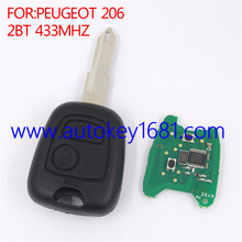 Remote key for Peugeot 206 207 2Button Smart card 433MHZ with ID46 chip