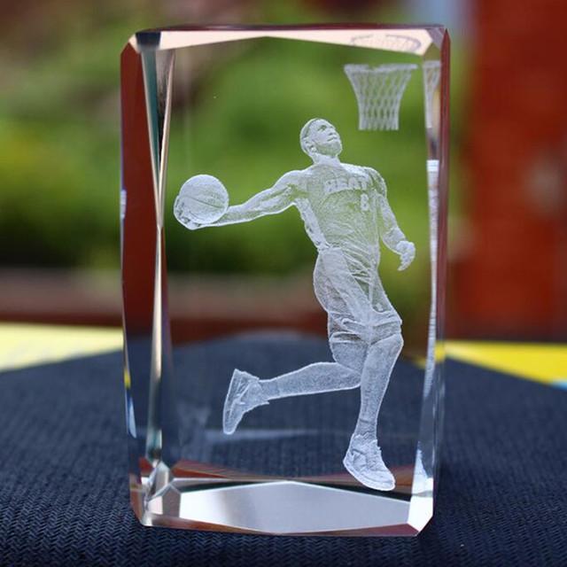 2016 Custom Sports 3D Laser Crystal Cube Wholesale for souvenir