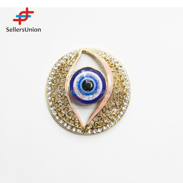 2017 No.1 Yiwu agent hot sale export commission agent Tourist promotion souvenir evil eye fridge magnet