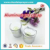 China factory direct sale dis cap aluminum 28mm hand press screw plastic disc cap for bottles usage