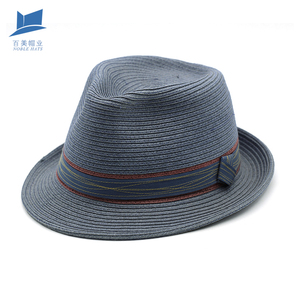 Popularity Summer Fedora Straw Hat Promotional Panama Unisex trilby summer straw hat