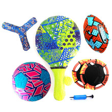 Beach sports game neoprene pool game sports water game volleyball football beach paddle frisbee flying dics catch ball set