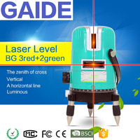 GAIDE-BG 3red+2green plumb laser construction beam level