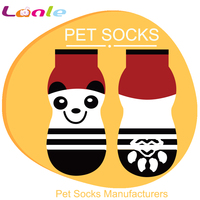 PS041 2016 Factory directly panda style dog boots with anti-slip for wholesale
