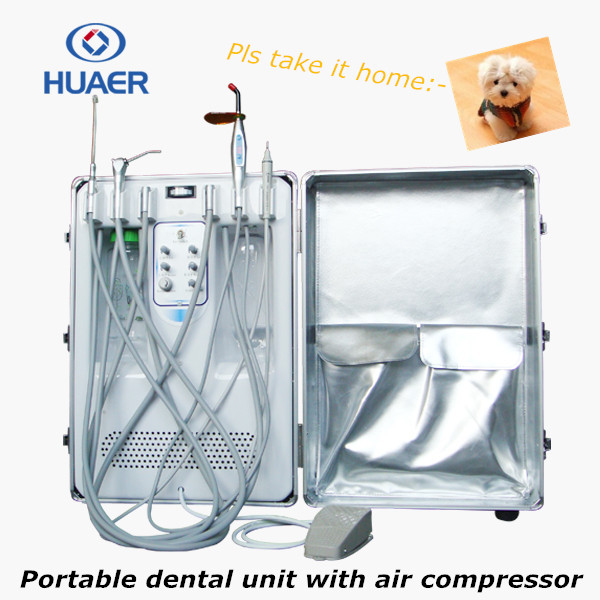 Top quality folded portable dental chair/mobile dental unit/dental turbine Type electric turbine