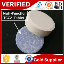 we are the largest manufacturer of tcca multi-function tablet swimming pool chemical in China