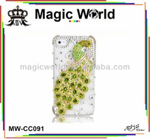luxury diamond crystal peacock bling phone case for iphone 4 4s