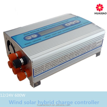 Home 600W wind charge controller with DC or AC input wind solar hybrid charge system