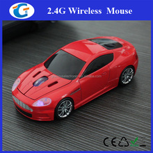 Race Car USB Wireless Mouse Optical Cordless Mice red for Laptop Notebook PC