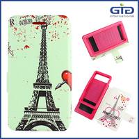 Universal Flip Cover PU Case with Double Designs for Mobile Phone